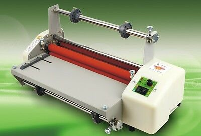 "335mm Digital Control 13"" Thermal Hot/Cold roll Laminator Laminating machine H02"