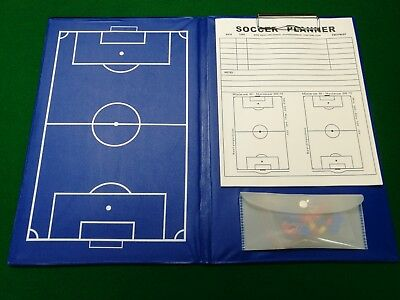 Magnetic Training Football Pro Soccer Coaches Blue Tactic Board Folder Size A4
