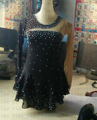 ice skating clothes black women custom figure skating dresses spandex yike