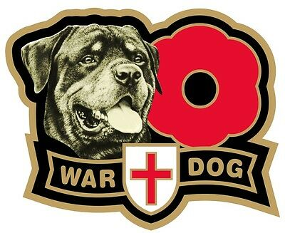 War Dog Rottweiler  Car Window Sticker