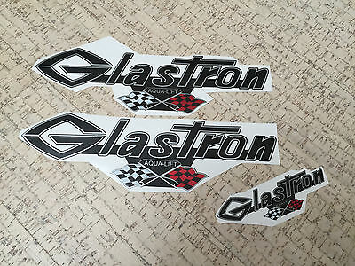"Glastron decal with grand prix flags 13"" x 4"" (33 cm x 10 cm) + extra decal"