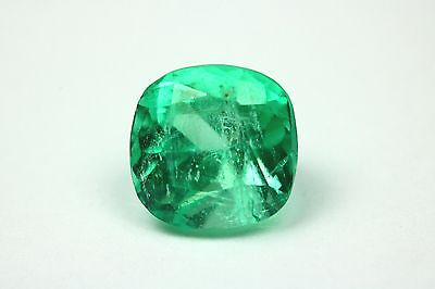 Very Clean 2.69 Ct Loose Natural Colombian Gemstone Sqaure Cushion Cut!