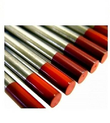 Tig Welding Tungsten Electrode 1.6mm Pack 10 (Red Thoriated)