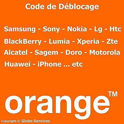 Déblocage OFFICIEL Désimlockage ORANGE France ( Samsung Sony Nokia LG Htc...etc)