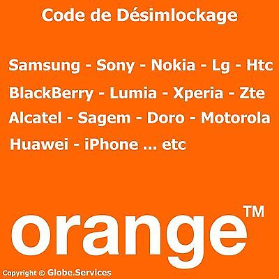 Code de Déblocage Désimlockage Orange France ( SAMSUNG SONY NOKIA LG HTC ...etc)