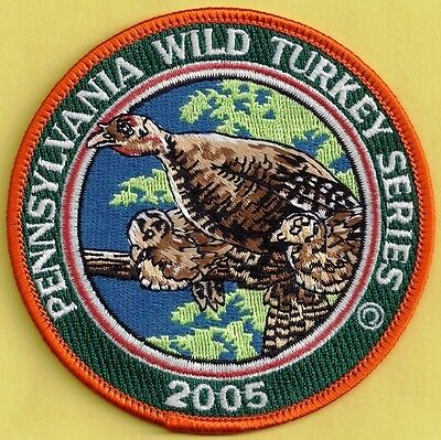 """Pa Game Commission Related Wilderness Editions 2005 4"""" Hen Wild Turkey Patch"""