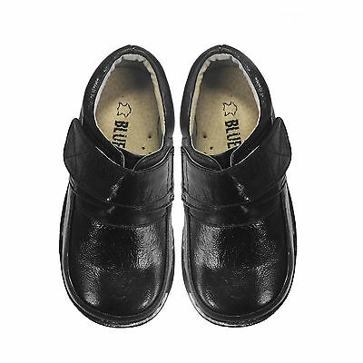 NEW Boys School Kids Formal Leather Shoes BLACK SZ 8-13 and Approx3-10Yr