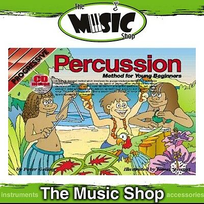 New Progressive Young Beginner Percussion Music Book by Peter Gelling