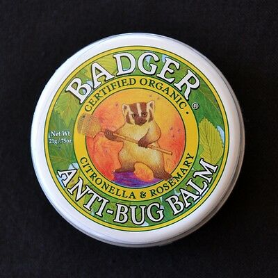 Badger 100% Certified Organic Anti Bug Balm Natural Mosquito Repellent Deet Free