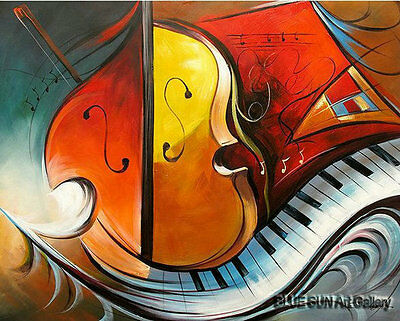 Modern abstract oil painting Music dance Canvas Living Room Wall Art deco ABD110