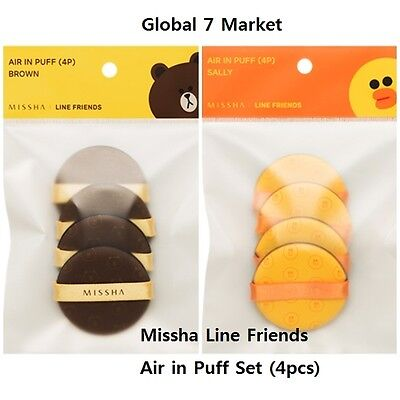 [Limited Edition] Missha Line Friends Cushion Air in Puff(Brown 4pcs,Sally 4pcs)