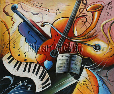 Modern abstract oil painting Music dance Canvas Living Room Wall Art deco ABD174