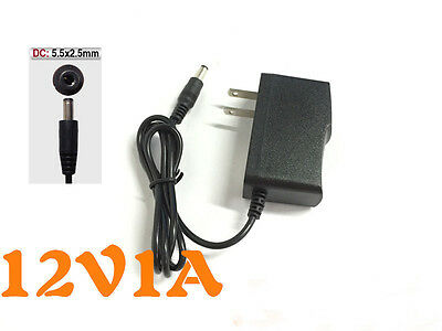 12V 1A 1000mA 5.5mm x 2.5mm AC / DC Power Supply Adapter Battery Charger Cord