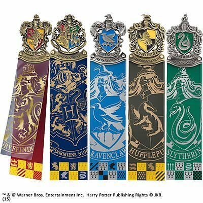 Harry Potter House Crest Bookmarks in Collectors Box Noble NN8725 Bookmark Set