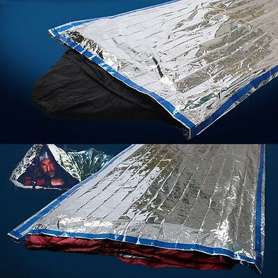 Portable Camping Outdoor Sleeping Bag Reusable Survival Foil Thermal Blanket