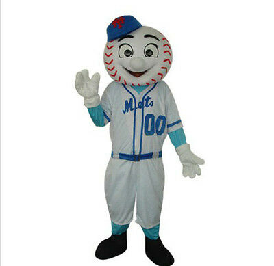 New BASEBALL BALLPLAYER  Mascot Costume Fancy Dress Adult Suit Size R106