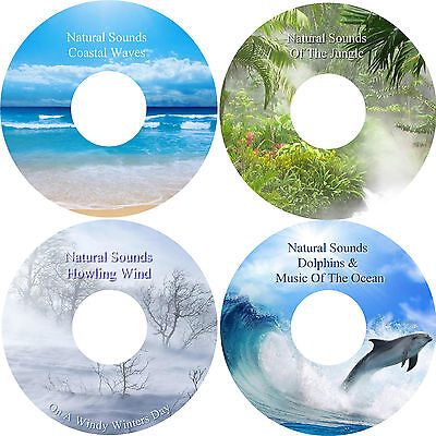 Natural Sounds Relaxation Deep Sleep Stress & Anxiety Relief 4 CD Healing Nature