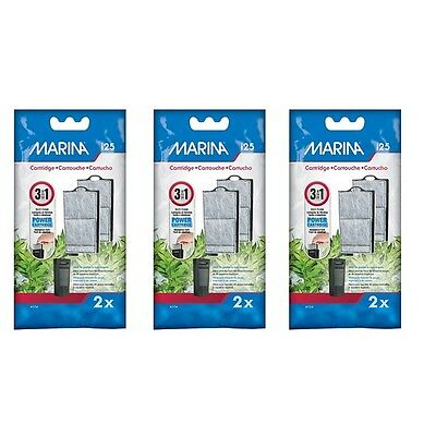 Marina i25 Power Filter Cartridge To Fit i25 Internal Filter Three Packs of Two.