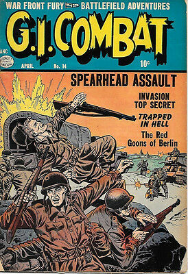 G.I. Combat Comic Book #14, Quality Comics 1954 VERY GOOD