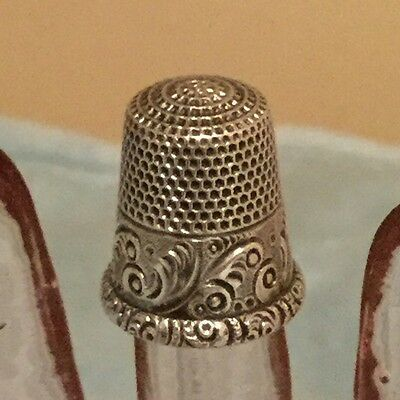 Antique MKD Ketcham & McDougall Sterling Silver Thimble