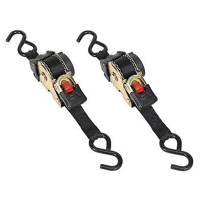 Sealey ATD25301 Auto Retract Ratchet Tie Down Strap 25mm X 3 Metre *Pack Of 2*