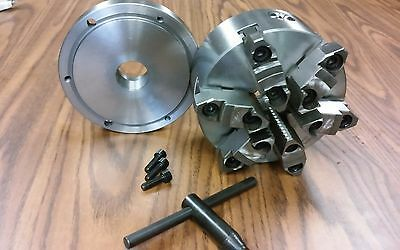 "6"" 6-JAW SELF-CENTERING  LATHE CHUCK w. top&bottom jaws w. 1-1/2""-8 adaptor-new"