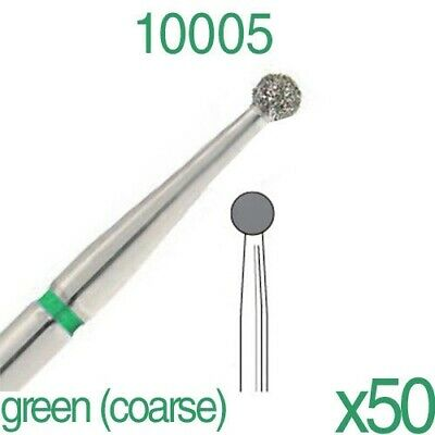 50x Dental  Long Ball 0.14 FG Diamond Burs for High Speed Handpiece by DSI