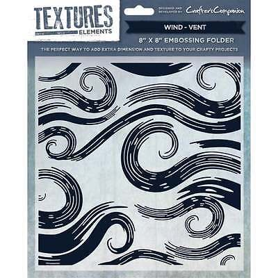 Wind 8 Embossing Folder Crafter/'s Crafters Companion Textures Elements 8