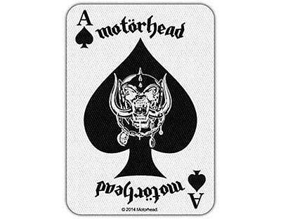 Official Licensed - Motorhead - Ace Of Spades Card Iron/sew On Patch Metal Lemmy