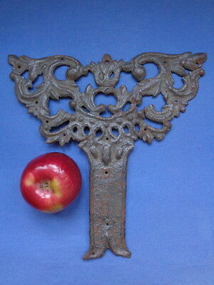 Majestic 1800s BAROQUE rustic forged iron hardware TREE OF LIFE scroll applique