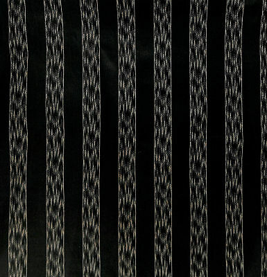 "Antique 1870 ¾"" Black Stripe Polished Cotton Fabric"