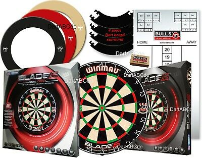 winmau blade 5 / DUAL CORE +Quarterback EVA Dartboard Surround + Option Tafel