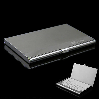 Foxnovo Business Name ID Credit Card Case Holder Stainless Steel Portable Box