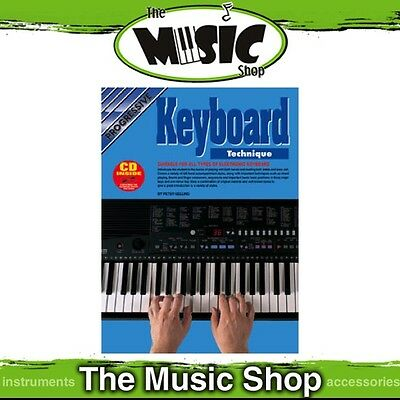 New Progressive Electronic Keyboard Technique Music Book with CD