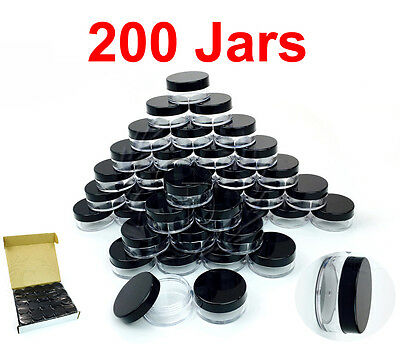 200 Packs 10 Gram/10ML High Quality Makeup Cream Cosmetic Sample Jar Containers