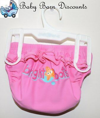 Bright Bots Swim Nappy - Pink with Star Fish - Size 0 - UPF50+ which is the m...