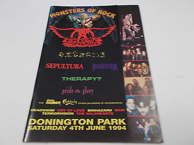 Monsters Of Rock Programme From 1994