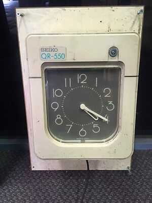 Seiko QR-550 Staff Clocking Time Card Machine
