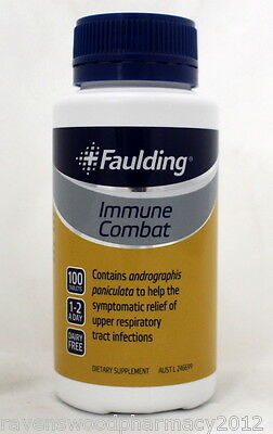 Faulding Immune Combat (100 Tablets) ::Relieve Respiratory Tract Infections::