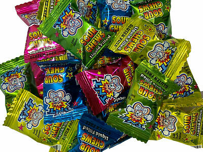 Bulk Lollies 100 x TNT Sour Chews Individually Wrapped Candy Party Favour Sweets