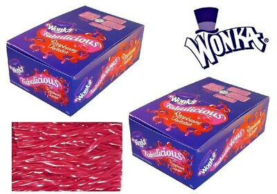 180 Pieces x Wonka Raspberry Twister 2 kg Bulk Party Favor Loot Bag Sweets Lolly