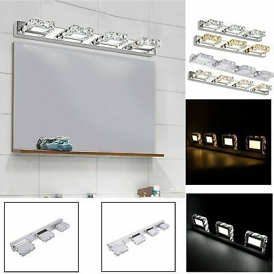 Modern Bathroom Crystal LED Mirror Light Wall Mounted Lamp Fixtures Vanity Light