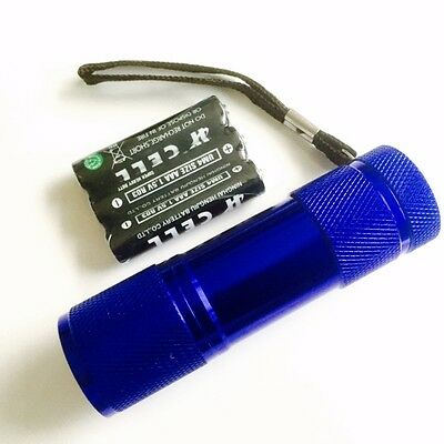 Torch 9 LED Metal in Blue for Police,PCSO,Security, Ambulance, Paramedic