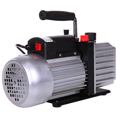 5CFM 1/3HP Vacuum Pump Rotary Vane Single Stage Air Conditioning Refrigerant AC