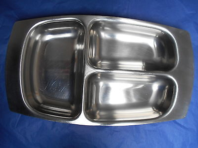Retro OLD HALL stainless steel serving 3 section dish