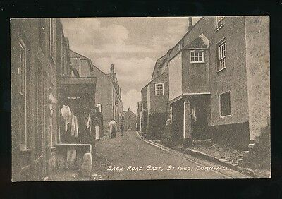 Cornwall ST IVES Back Road East c1900/10s? PPC