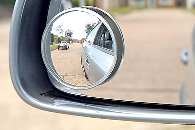 """2x SUMMIT BLIND SPOT MIRROR ROUND ADHESIVE 2"""" INCH EASY FIT WIDE VIEW ANGLE VAN"""