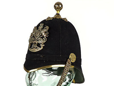 c1882 British Northern Division Artillery Militia Officer Helmet