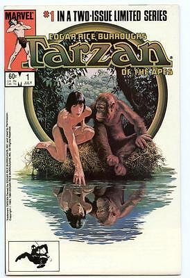 Tarzan of the Apes #1-2 (1984) Marvel VF/NM to NM- Edgar Rice Burroughs