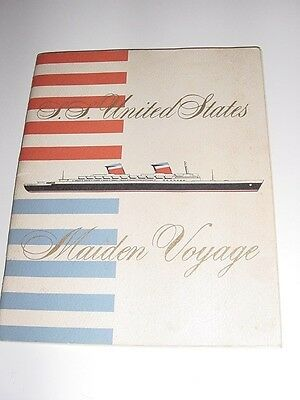 SS UNITED STATES LINES  1952 Maiden Voyage, First-Class Passenger List